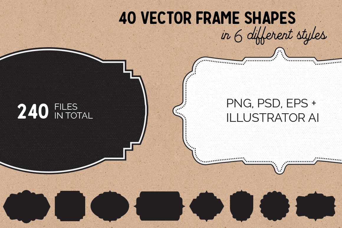 40 vector frame shapes
