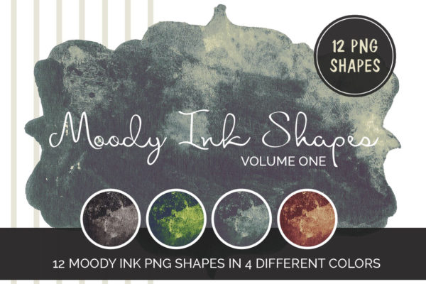12 Moody Ink shapes