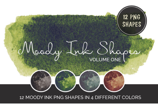 12 Moody Ink Shapes Jade