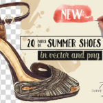 pack of 20 watercolor shoes