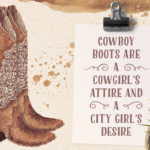 pair of watercolor cowboy boots