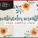 Freebie: 3 Watercolor wreaths